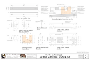 Saddle Channel Routing Jig Plans