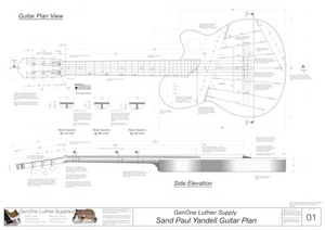 Electric Nylon Guitar Plans - Sand Paul Yandell, Guitar Top, Guitar Side
