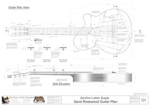 Electric Nylon Guitar Plans - Sand Rosewood, Guitar Top, Guitar Side