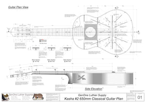 Kasha Version 2 650mm Scale, Plan View, Side View