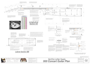 000 Guitar Plans Sections and Details