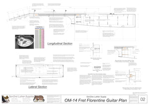 OM 14-Fret Florentine Guitar Plans Sections & Details