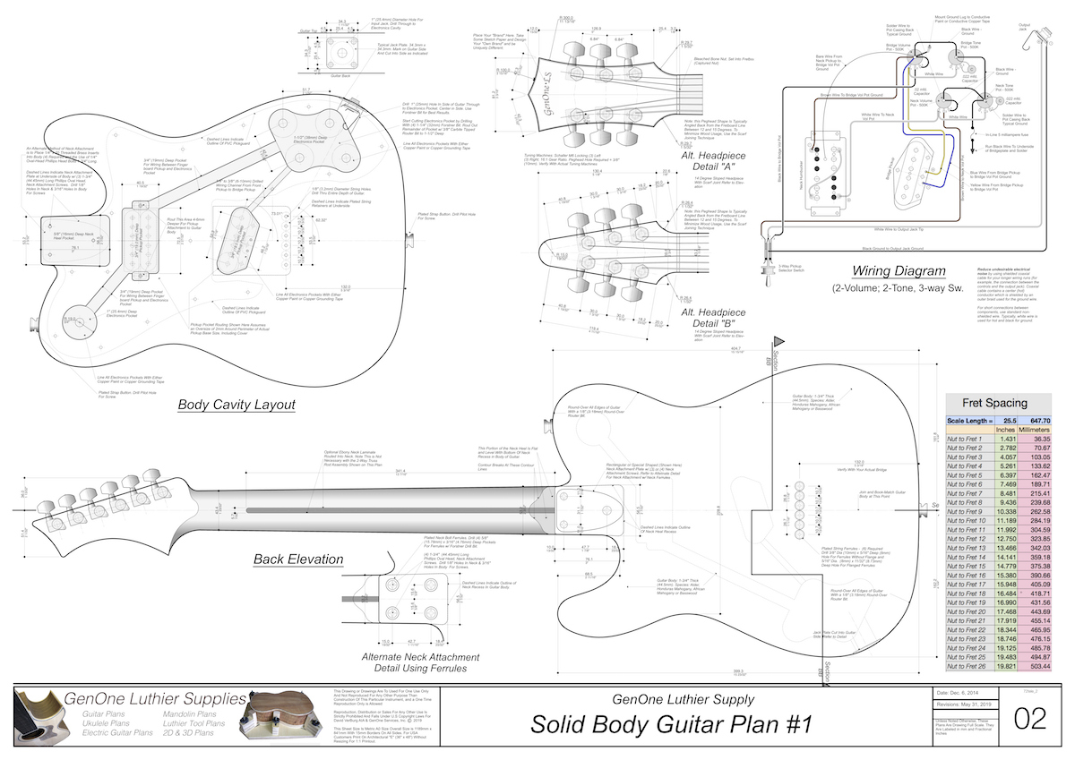 Solid Body Electric Guitar Plan  1