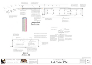 Gibson L-0 Guitar Plans Sections & Details