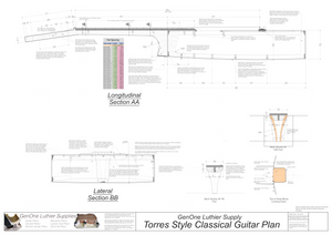 Classical Guitar Plans - Torres Bracing s Sections & Details