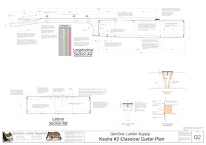 Classical Guitar Plans - Kasha 2 Bracing Sections & Details