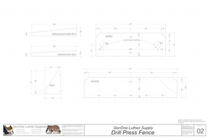 Drill Press Fence Plans: Template Sheet