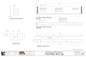Fret Miter Box Plans, Cutting Slot Detail, Scale Template