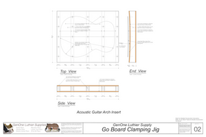 Go Board Glue-up Tool Plans Arch mold top, side and end elevations