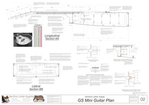 GS Mini Guitar Plans Sections and Details