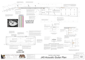 J45 Guitar Plans Sections and Details