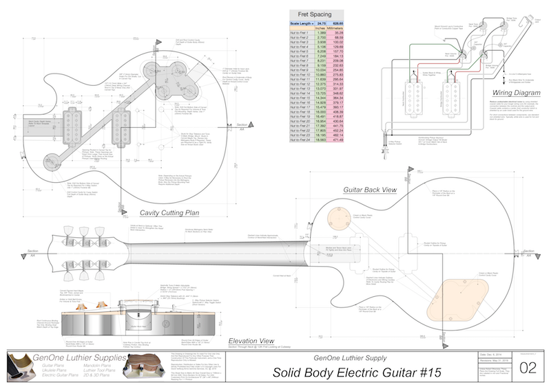 [SCHEMATICS_43NM]  Solid Body Electric Guitar Plan #15 - GenOne Luthier Services | Free Download Acoustic Electric Guitar Wiring Diagram |  | GenOne Luthier Supply