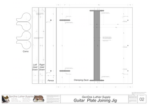 Plate Joining Jig Plans - Guitar Template layout sheet