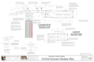 Concert 12 Ukulele Plans Sections & Details
