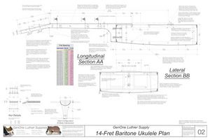 Baratone 14 Ukulele Plans Sections & Details