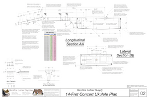 Concert 14 Ukulele Plans Sections & Details