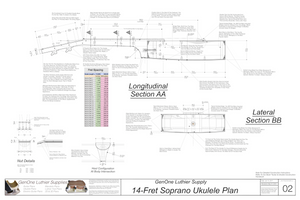 Soprano 14 Ukulele Plans Sections & Details