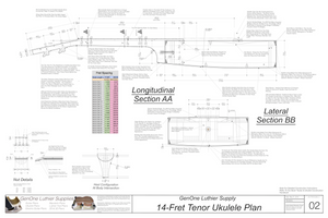 Tenor 14 Ukulele Plans Sections & Details