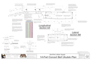 Concert 14 Bell Ukulele Plans Sections & Details