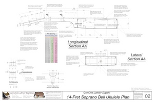 Soprano 14 Bell Ukulele Plans Sections & Details