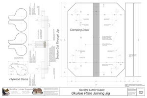 Plate Joining Jig Plans - Ukulele Plan View