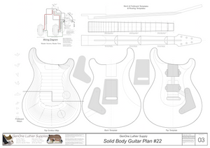 PRS Custom 24 Template Sheet