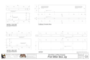 Fret Miter Box Plans - Templates