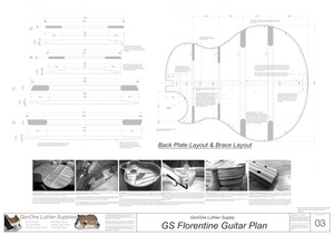Grand Symphony Florentine Guitar Plans Plans Back Layout & Back Brace Layouts
