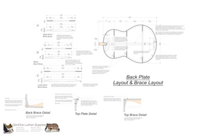 Soprano 12 Ukulele Plans Back Layout & Back Brace Layouts
