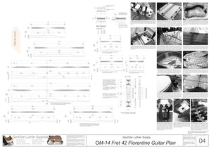 OM 12-Fret 42 Florentine Guitar Plan, Top Braces