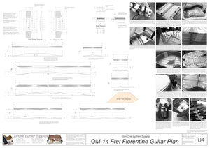 OM 14-Fret Florentine Guitar Plans Top Brace Layouts