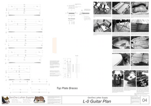 Gibson L-0 Guitar Plans Top Brace Layouts