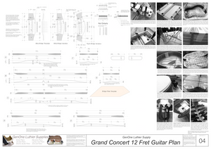 Grand Concert 12-Fret Guitar Plans Top Brace Layouts