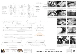 Grand Concert Guitar Plans Top Brace Layouts