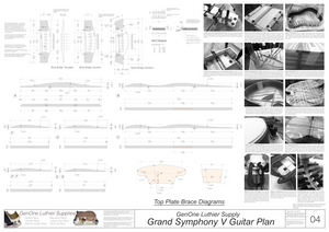 Grand Symphony V-Brace Guitar Plans Guitar Plans Top Brace Layouts