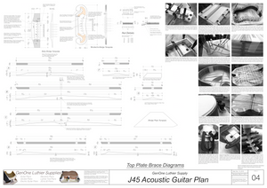 J45 Guitar Plans Top Brace Layouts