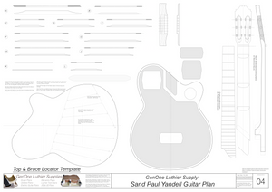 Electric Nylon Guitar Plans - Sand Paul Yandell, Template Sheet