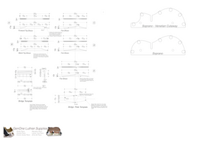 Soprano 12 Ukulele Plans Top Brace Layouts