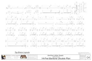 Baritone 14 Kasha Braced Ukulele Plans Top Brace Layouts