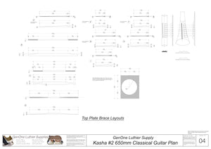 Kasha Version 2 650mm Scale, Top Brace Layouts