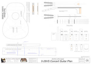 0-28vs Guitar Plans Template Sheet