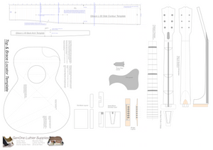 Gibson L-00 Guitar Plans Template Sheet