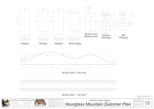 Hourglass Mountain Dulcimer Plans bender templates