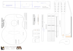 Grand Auditorium 12-String Guitar Plans Guitar Plans Template Sheet