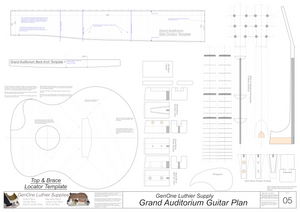 Grand Auditorium Template Sheet