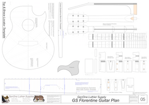 Grand Symphony Florentine Guitar Plans Guitar Plans Template Sheet