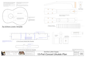 Concert 12 Ukulele Plans Template Sheet