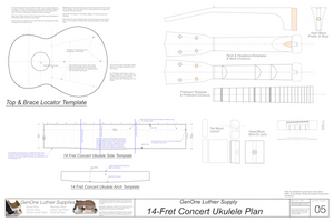 Concert 14 Ukulele Plans Template Sheet