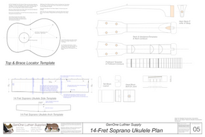 Soprano 14 Ukulele Plans Template Sheet