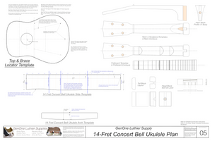 Concert 14 Bell Ukulele Plans Template Sheet